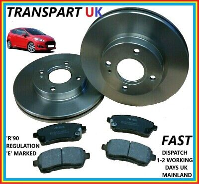 For Ford Fiesta Mk7 Front Brake Discs And Pads Petrol Diesel Ecoboost 08-16