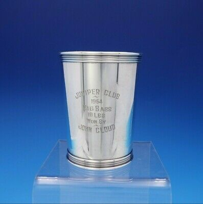 "Manchester Sterling Silver Mint Julep Cup Fishing Trophy 3 3/4"" #3759 (#3763)"