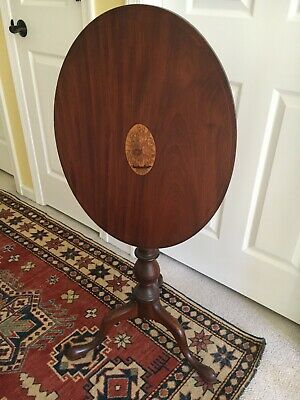 Antique Mahogany Oval Tilt Top Table in very good condition.