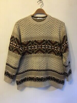 St Michael For M&S, Natural Mix-Fair Isle Style Jumper With Wool & Alpaca. M