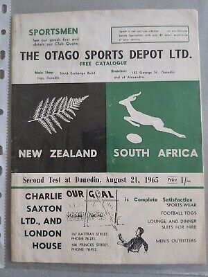 SOUTH AFRICA 1965 tour v Otago New Zealand 10th July 1965