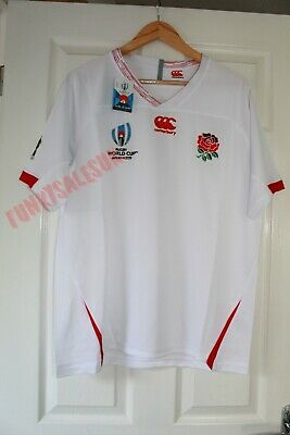 Men's England World Cup Rugby Shirt 2019 Japan World Cup UK SIZE MEDIUM M