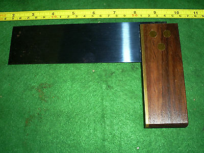 """8"""" Try Square  Hardwood And Brass  Carpenters English Made"""