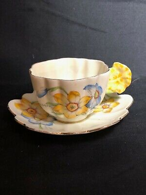 Star Paragon Mayfield Floral Handle Tea Cup and Saucer