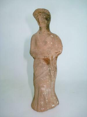 Ancient Greek Terra-Cotta Woman Figure 1St Cent Bc Houston Estate