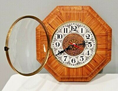 "Handcrafted Octagonal Wood WALL CLOCK Jim "" Ethan "" Couvillon Handcrafted"