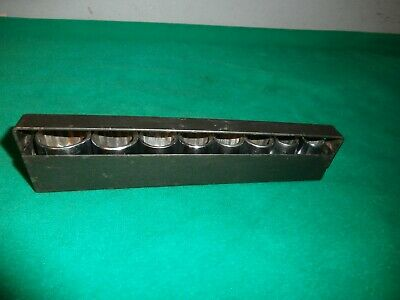 Vintage Craftsman Usa Made 8 Piece Metric Socket Set In Metal Holder