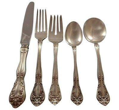 Chateau Rose by Alvin Sterling Silver Flatware Set For 8 Service 40 Pieces