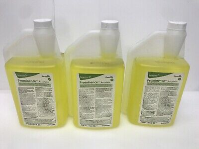 3/Pack Diversey Prominence AccuMix Heavy Duty Floor Cleaner 94996440 1qt each