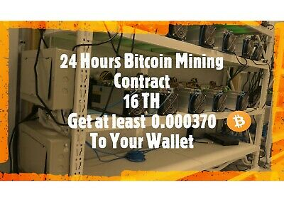 Bitcoin Mining Contract 16 TH for 1 Day. Get at least 0.000320 BTC