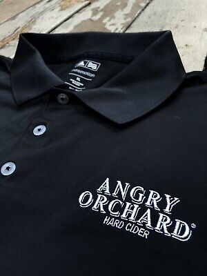 ADIDAS GOLF • ANGRY ORCHARD HARD CIDER • Men's PureMotion Polo Golf Shirt XL
