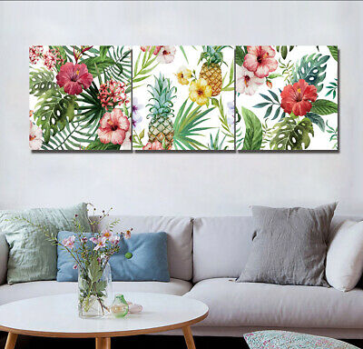 Floral Tropical Plant Palm Leaf Abstract Art Wall Decor Painting Canvas Unframed