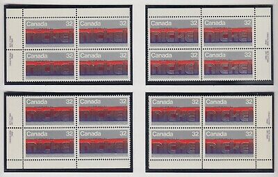 MATCHED SET PLATE BLOCKS 996MNH  32c x 16 NICKEL - DISCOVERY OF NICKEL