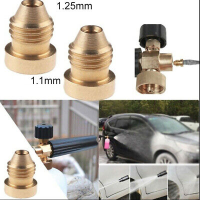 For Snow Foam Lance 1.1/1.25mm Foam Cannon Orifice Nozzle Tips Thread Nozzle Kit