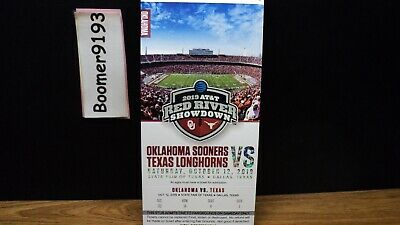 1 Oklahoma Sooners vs. Texas Longhorns Ticket - Red River Showdown 10/12/19