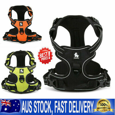 3M No-pull Pet Dog Harness Reflective Outdoor Safety Vest Jacket Padded Handle