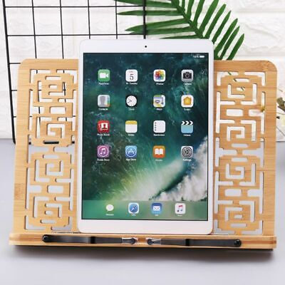 Reading Textbook Rest Rack Bamboo Holder Hollow Out Book Stand Exquisite Gift