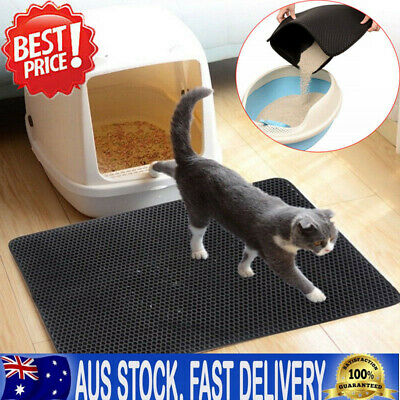New Cat Litter Trapping Mat Double Layer Honeycomb Design Foldable Tray Trap Pad