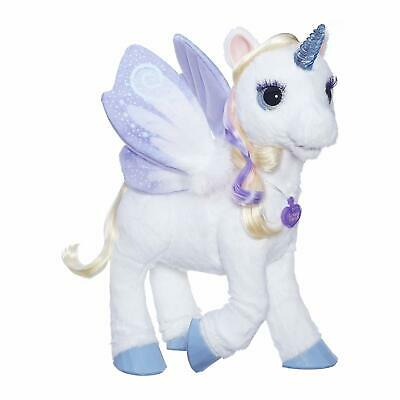 furReal StarLily My Magical Unicorn Interactive Plush Pet Toy Light-up Horn A...