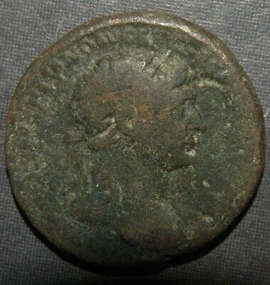 Ancient Large Coin Roman Bronze Coin Antique Hadrian AD 117-138 Caesar S C Lot