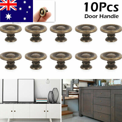 10X Vintage Cabinet Knobs Drawer Dresser Door Bin Cupboard Drop Pulls Handle AU