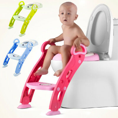 Toddlers & Kids Potty Training Non-Slip Adjustable Height Seat Baby Step Stool