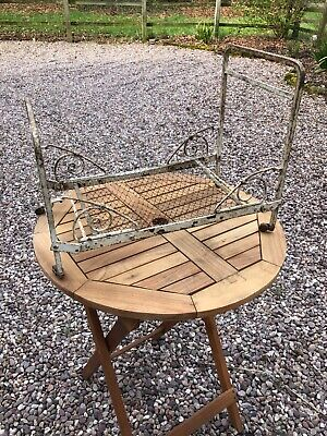 Antique Victorian white wrought iron dolls bed/tradesman's sample