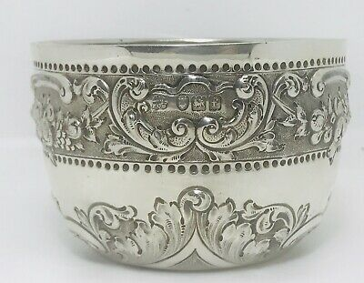 Antique  English sterling solid silver bowl  ,London, Wakely & Wheeler  ,c1901