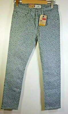 LEVIS 510 jeans 29W x 29L grey patterned super skinny jeans Goth Emo boys Mens