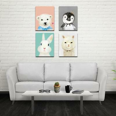Animal Canvas Poster Nursery Wall Art Print Painting Nordic Picture CH