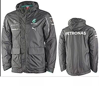 F1 Mercedes AMG Petronas Puma Team jacket. New with tags.Team Hamilton Bottas