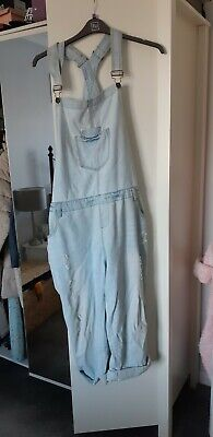 Denim Company Faded Baggy Dungarees Size 20 vintage