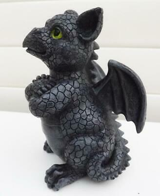 CUTE  DRAGON STATUE ORNAMENT  POLY RESIN B NEW 14cm