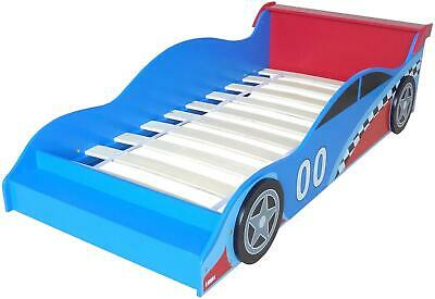 Kiddi Style CAR BED - BLUE RED Wooden Toddler Child Junior Bed BN