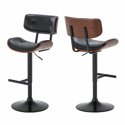Astonishing Offex Beech Bentwood Adjustable Height Bar Stool With Button Pabps2019 Chair Design Images Pabps2019Com