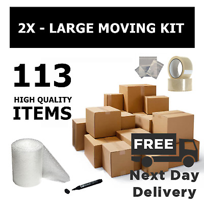 House Removal Moving Packing Storage Cardboard Boxes Small Med Large Xl Kit
