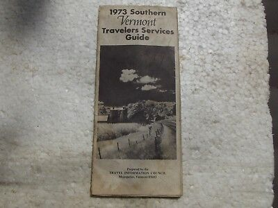 ***Vintage*** 1973*** SOUTHERN VERMONT TRAVELERS SERVICES GUIDE*** BROCHURE***
