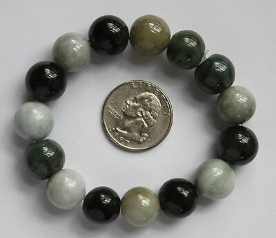 Gemstone 100% Natural Jade Grade A Untreated Jadeite Beads Bracelet #BR312