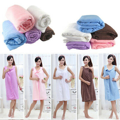 New Soft Microfiber Robes Wearable Towel Robe Spa Fast Dry Towel Women^