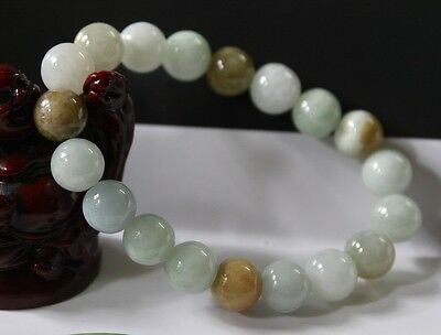 Certified Natural Jade Jadeite Grade A Multi-Color Beads Bracelet #Br187