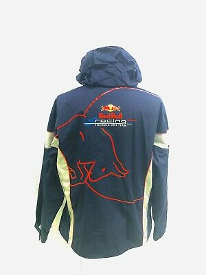 MEN'S RED BULL F1 FORMULA 1 TEAM RACING INSULATED HOODED JACKET Size Large