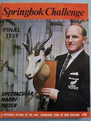 1965 SPRINGBOK CHALLENGE 2 South Africa in New Zealand RUGBY PROGRAMME
