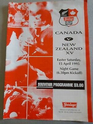 New Zealand v Canada 15th April 1995 RUGBY PROGRAMME