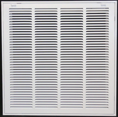 "12"" x 16"" Steel Return Air Filter Grill for 1"" Filter - Removable Face/Door - -"