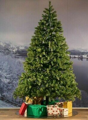 8Ft Green Artificial Colorado Christmas Pine Tree With 1300 Tips W / Metal Stand
