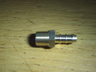LPG 3/8 BSP male Fulham nozzle to 8mm Gas hose.