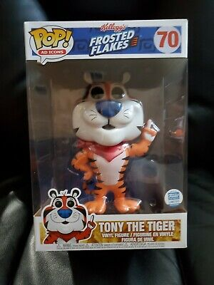 """Funko POP! Tony The Tiger Frosted Flakes 10"""" Limited Edition AD Icons #70 New"""