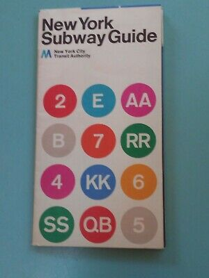 1972 New York City Subway Map Massimo Vignelli Excellent Condition Never Opened