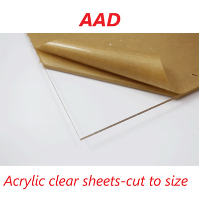 Clear Perspex Acrylic 3mm Cut to Sheets Select Panel Sizes - Free Shipping SALE