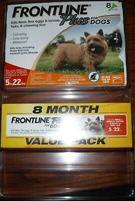 Frontline Plus for Small Dogs 5-22 lbs. 8 Doses - Flea & Tick Treatment